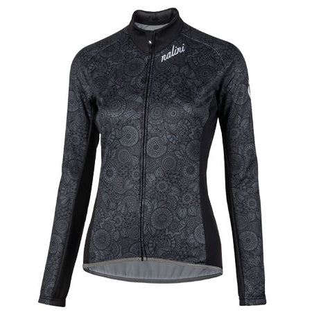 2020 Nalini Women's Black LADY Long Sleeve Jersey Black/Grey
