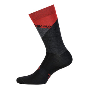 Nalini Crit Merino Wool Cycling Socks - Red
