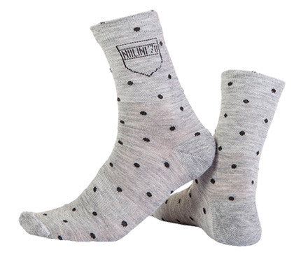 Nalini Wool Pois Grey Cycling Socks