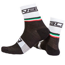 Nalini Wool Salita Cycling Socks - Black/White