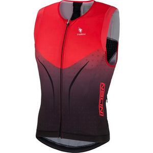 Nalini Tri Top Sleeveless Tank (Red) Sale