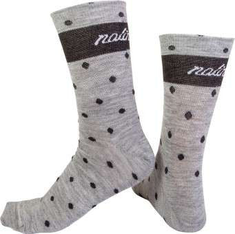 Nalini Women's Wool Grey Polka Dot Cycling Socks (H19)
