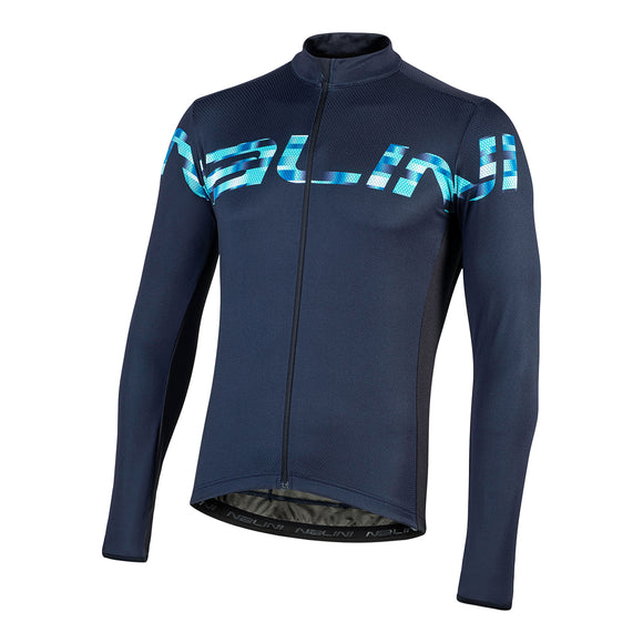 2020 Nalini PISTA Long Sleeve Jersey - Blue