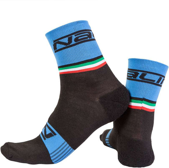Nalini Wool Salita Cycling Socks - Black/Blue