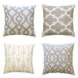 Sheffield Ecru Beige Throw Pillow Cover - Modernality Home Decor