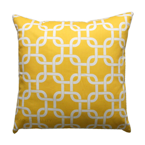 Gotcha Corn Yellow Chainlink Decorative Pillow - Modernality Home Decor