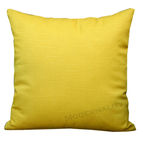 Dyed Solid Corn Yellow Throw Pillow - Modernality Home Decor