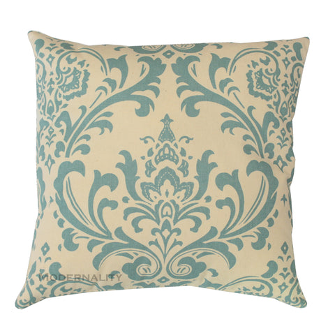 Traditions Village Blue Damask Pillow