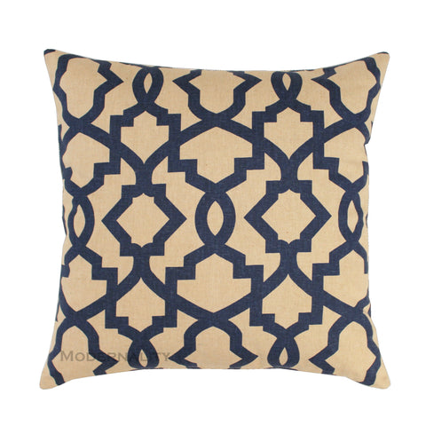 Sheffield Indigo Blue Trellis Pillow Cover