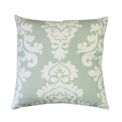 Berlin Artichoke Sage Green Damask Pillow - Modernality Home Decor