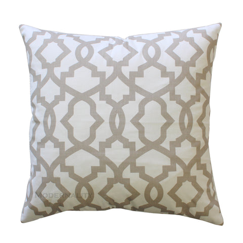 Sheffield Ecru Beige Throw Pillow Cover