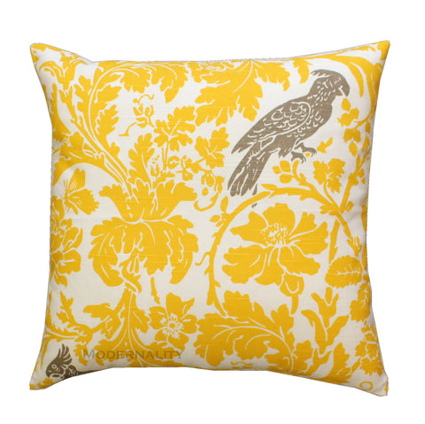 Barber Bird Corn Yellow Throw Pillow - Modernality Home Decor