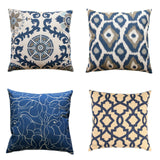 Sheffield Indigo Blue Trellis Pillow Cover - Modernality Home Decor