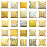 Helen Storm Grey and Corn Yellow Floral Throw Pillow