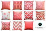 Dyed Solid Coral Accent Pillow