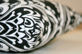 Ozborne Black and White Damask Throw Pillow