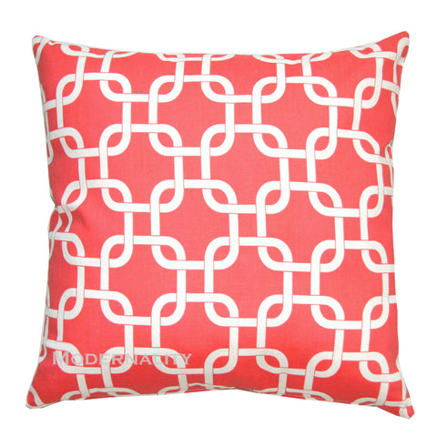 Gotcha Chainlink Coral Accent Pillow - Modernality Home Decor