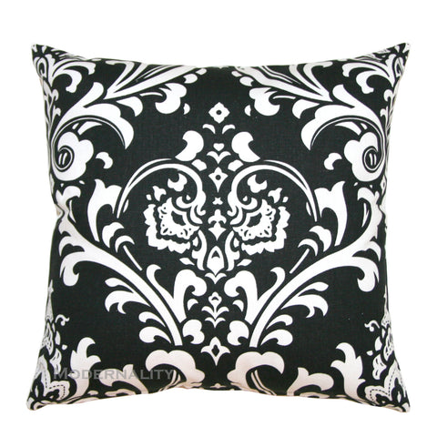 Ozborne Black and White Damask Throw Pillow - Modernality Home Decor