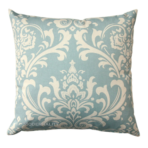 Ozborne Village Blue Damask Toss Pillow