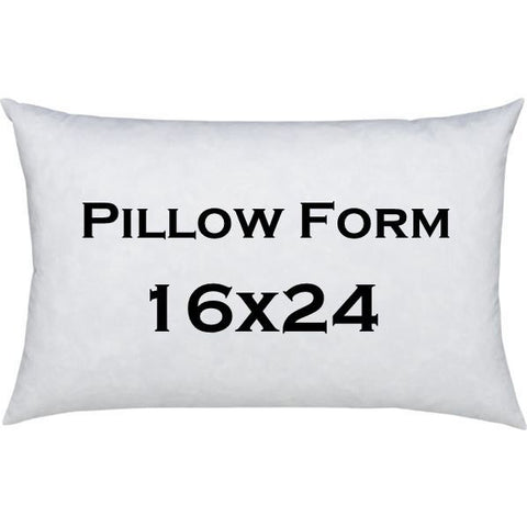 Pillow Form- 16x24 inch Lumbar Pillow Insert
