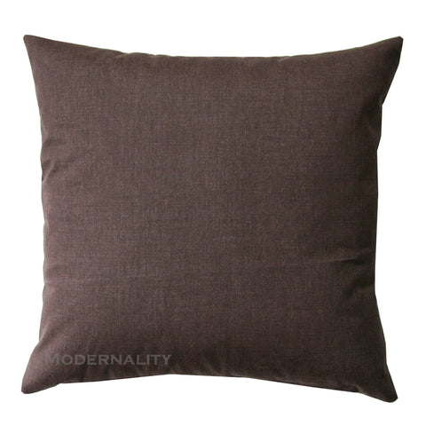 Dyed Solid Brown Throw Pillow - Modernality Home Decor