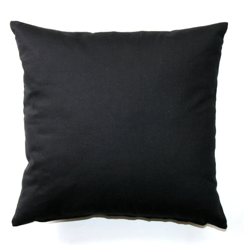 Dyed Solid Black Throw Pillow - Modernality Home Decor