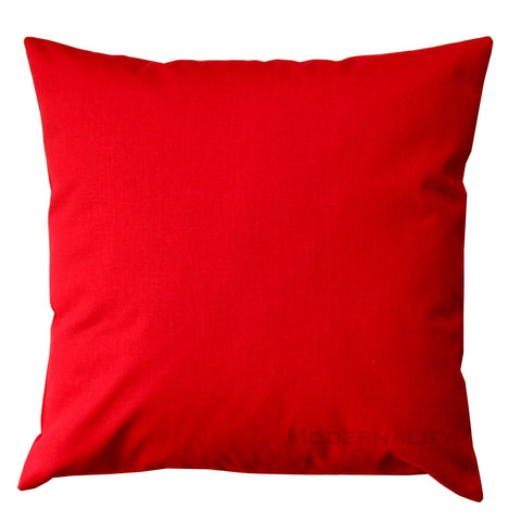 Dyed Solid Lipstick Red Decorative Pillow - Modernality Home Decor