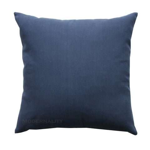 dyed solid navy blue accent pillow