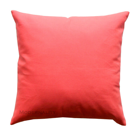 Dyed Solid Coral Accent Pillow - Modernality Home Decor