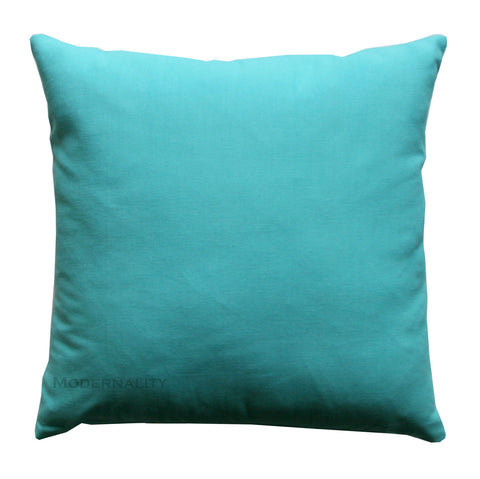 Dyed Solid Mandarin Blue Aqua Throw Pillow - Modernality Home Decor
