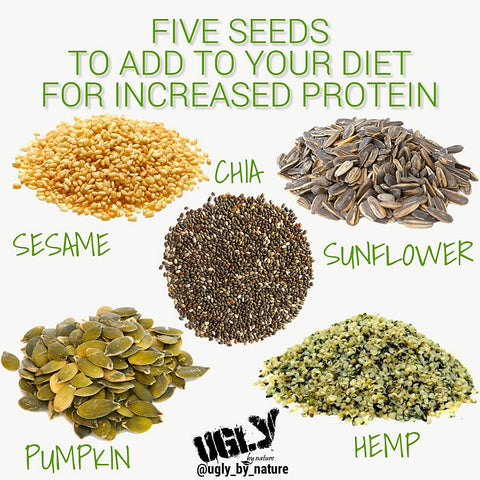Vegan protein from seeds ugly by nature