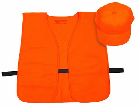 Allen Blaze Orange Ball Cap and Safety Vest Combo
