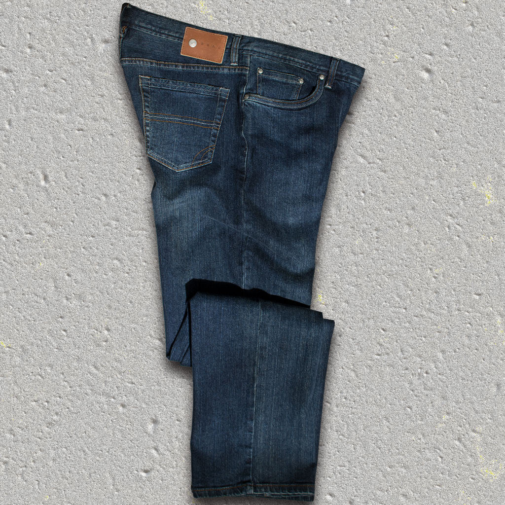 "ABBEY (Dark Wash)  5-pocket fashion denim jean - by ROAD - 34"" Inseam"
