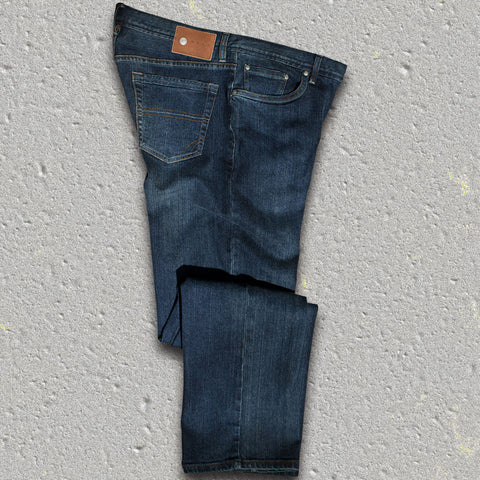 "ABBEY (Dark Wash)  5-pocket fashion denim jean - by ROAD - 32"" Inseam"