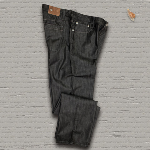 "VOYAGEUR - 5 Pocket ""Raw Black"" Denim"