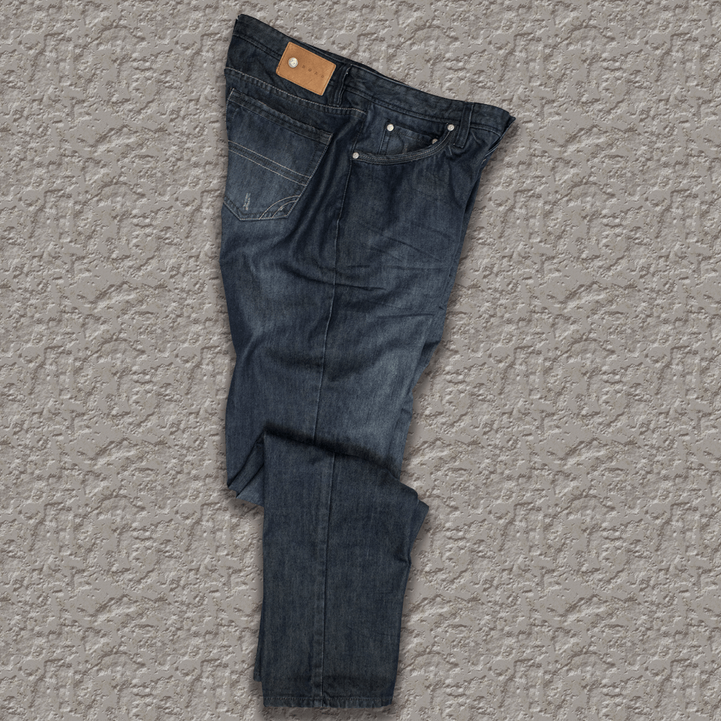 ROCKY - 5 Pocket Indigo Distressed Denim Jean