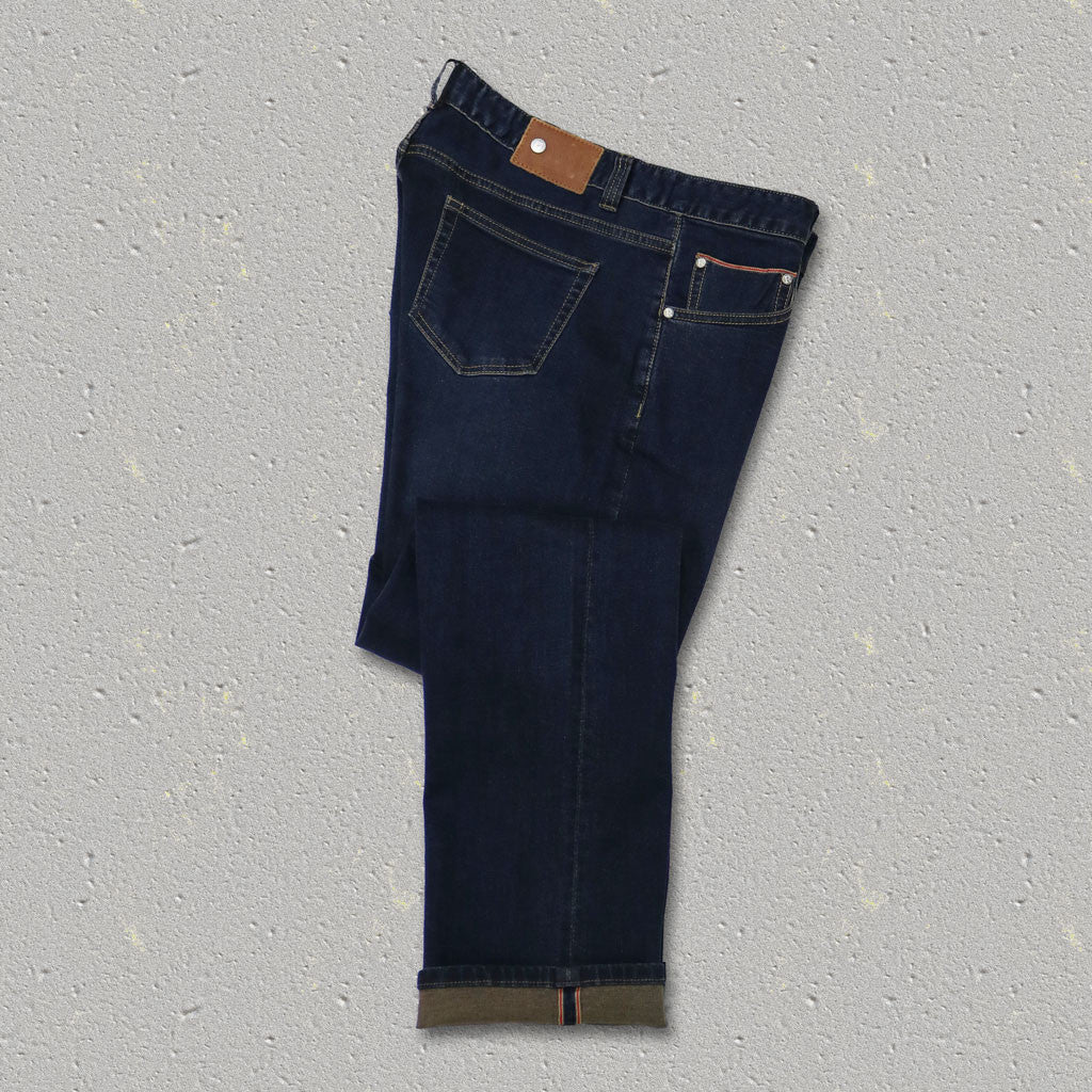 PRESTON (Straight Fit) Cotton/Spandex 5-Pocket Selvedge Denim Jean