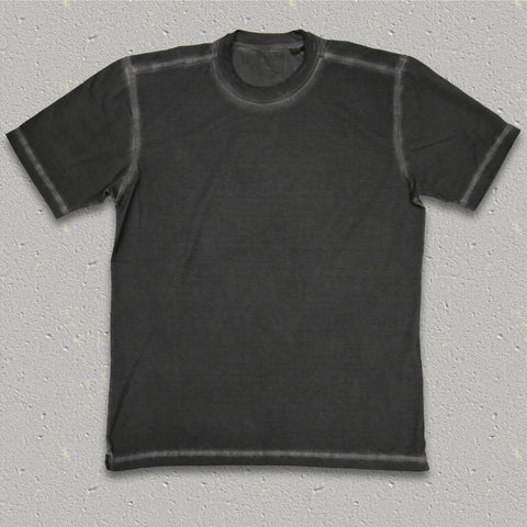GENE (Charcoal) 100% Pima Cotton Double Crew Neck T-Shirt