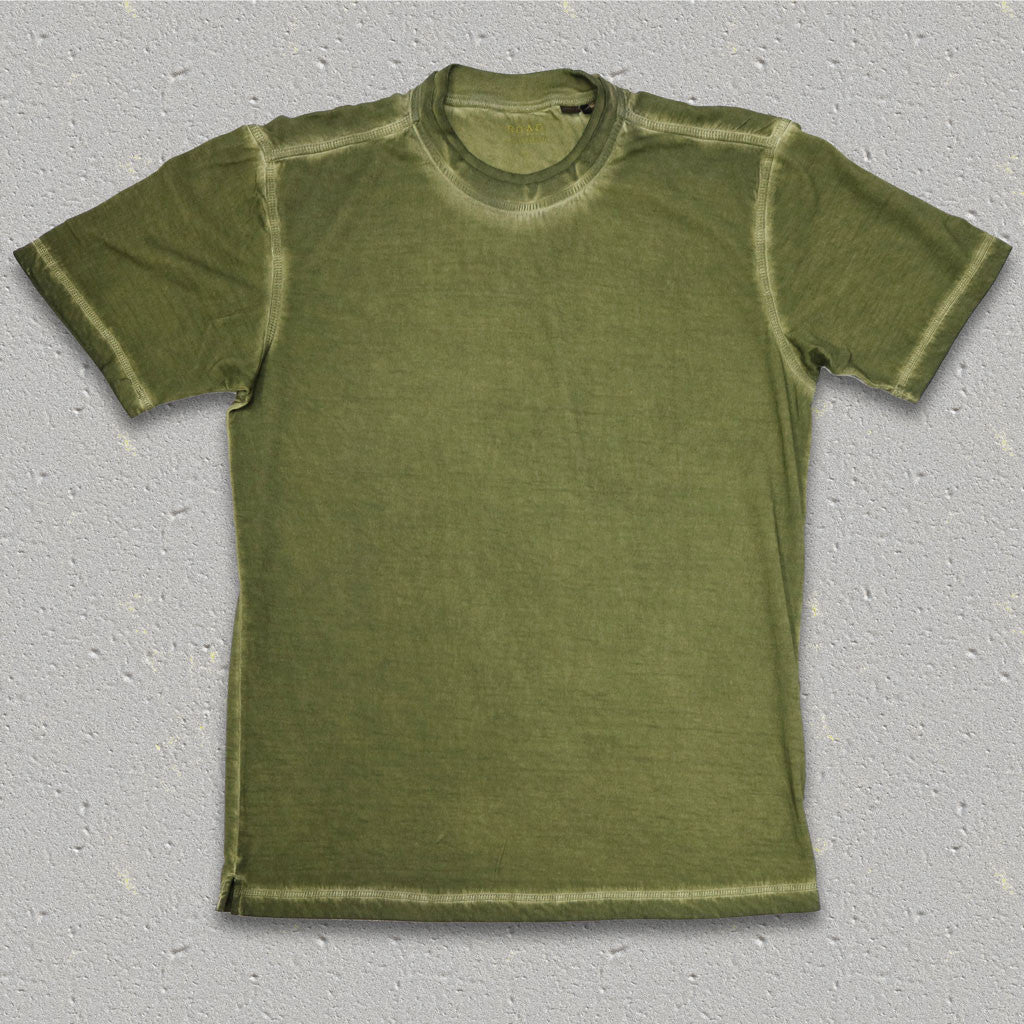 GENE (Moss) 100% Pima Cotton Double Crew Neck T-Shirt