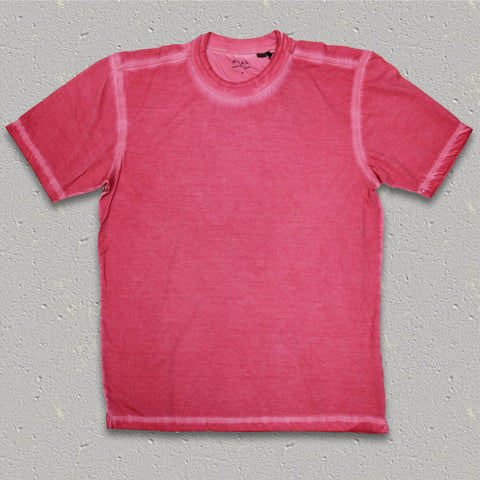GENE (Wineberry) 100% Pima Cotton Double Crew Neck T-Shirt