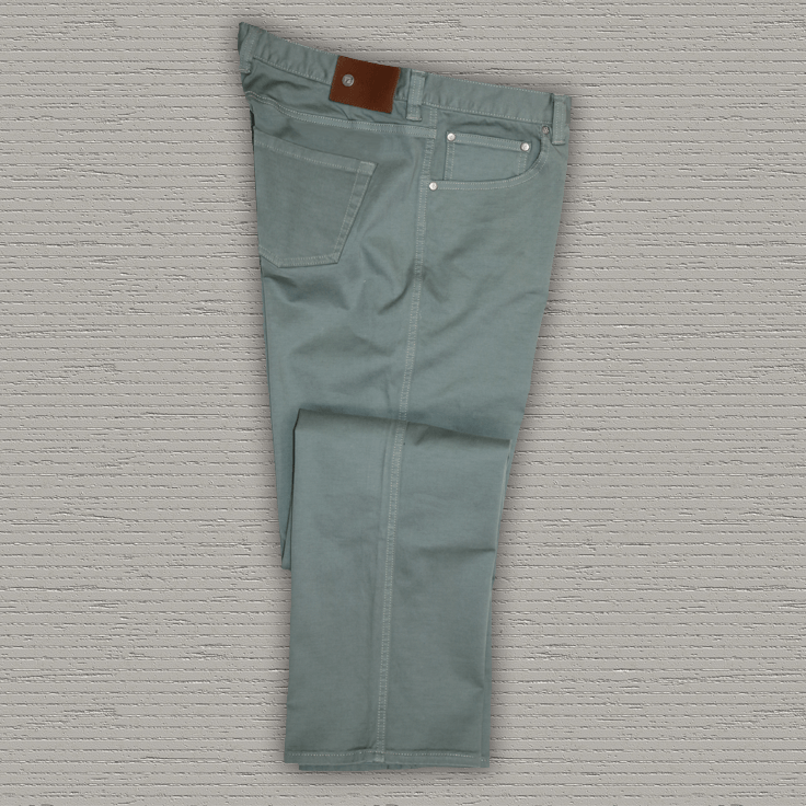 SPENCE - 5 Pocket Stretch Twill Pant - Leaf
