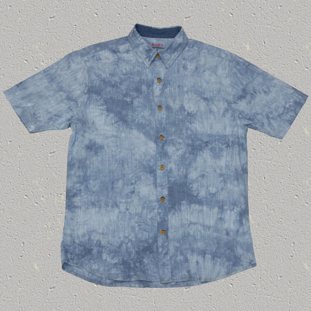 RAFI (Infinity) - 100% Cotton Tye Dye Slub Short Sleeve Shirt