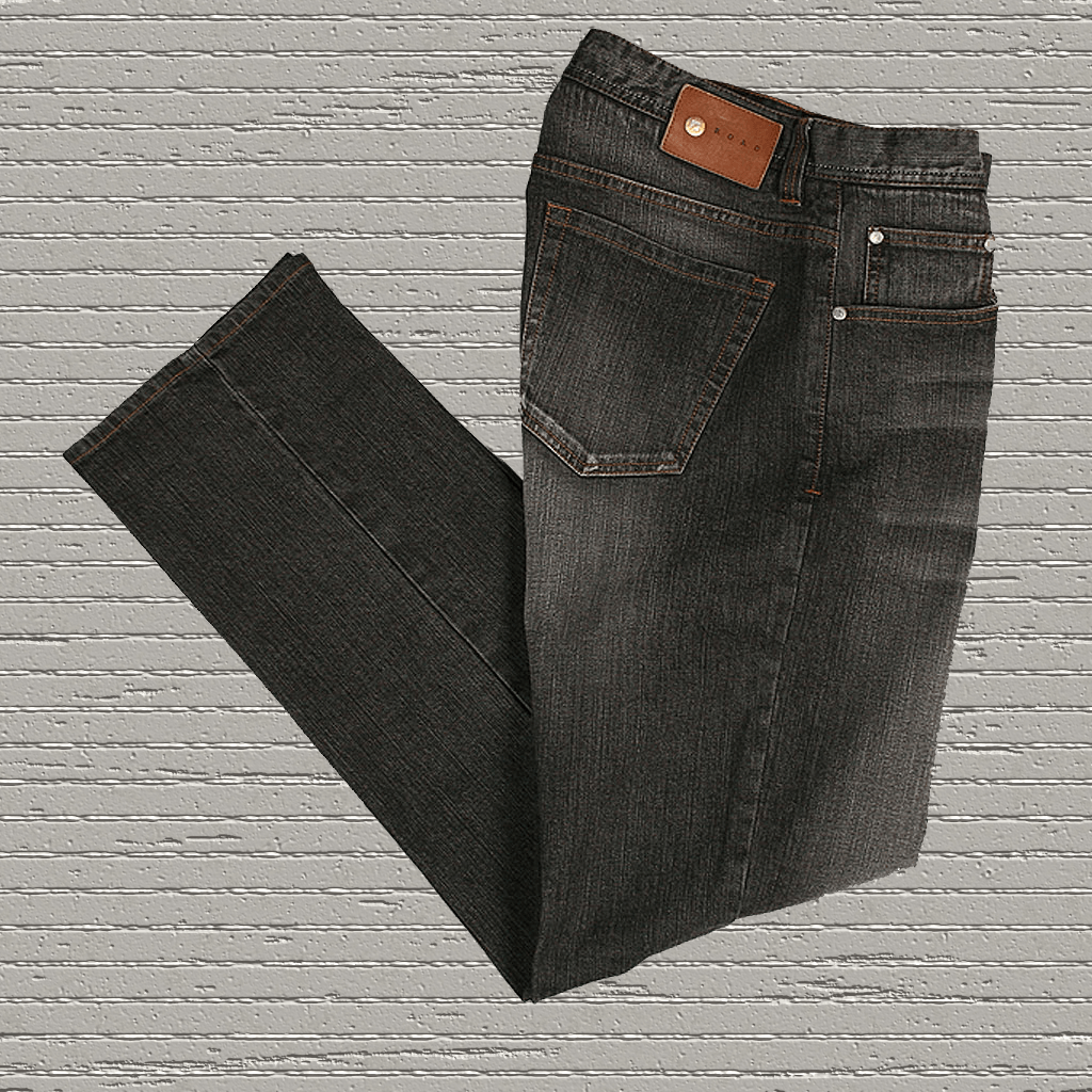 "BLACK DIAMOND  5-pocket fashion ""stretch"" denim jean - by ROAD - 32"" Inseam"