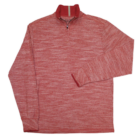 BRETZ (Red)  - Quarter-Zip Pullover by ROAD