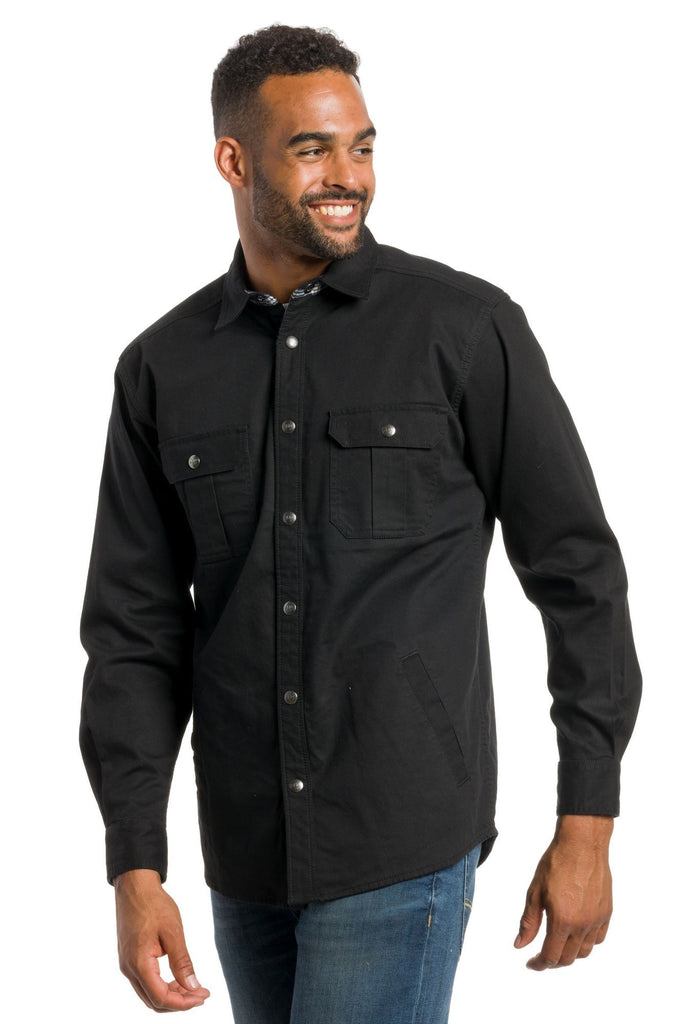 Denmark | Men's Heavy Cotton Shirt Jacket With Snaps