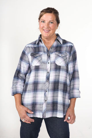 ALLISON - Women's Cotton Flannel Western Shirt (Concord)
