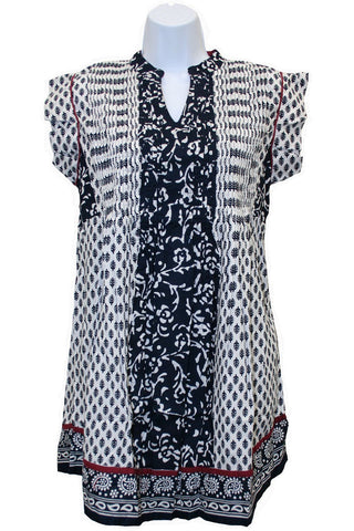 Janet | Women's Print Cap Sleeve Tunic by PUNCH