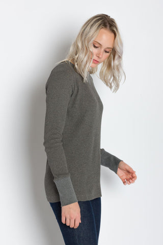 Hazel | Women's Raglan Thermal Crew Neck Shirt