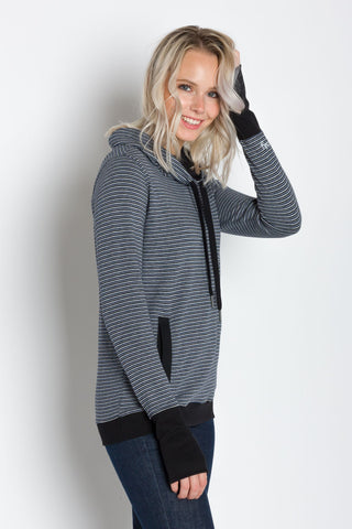 Luna A | Women's Plated Knit Cowl Neck Pullover