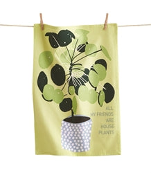 Dish Towel - All My Friends Are Plants  ( TAG)